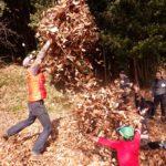 まちやまひろば1月  落ち葉かき & 焚き火で焼き芋 ①1月26日 ②1月27日